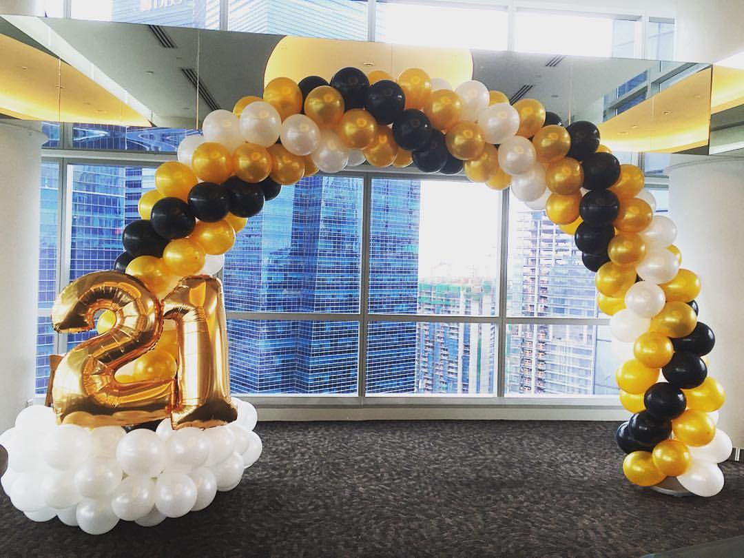 21st birthday party in singapore balloon decoration for Birthday balloon ideas