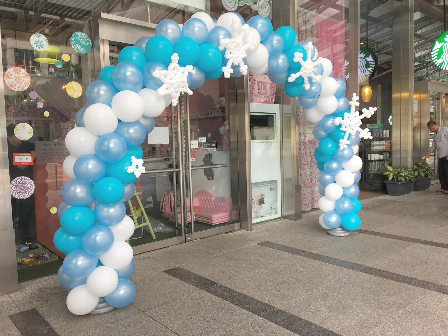 Balloon arch for Balloon decoration courses